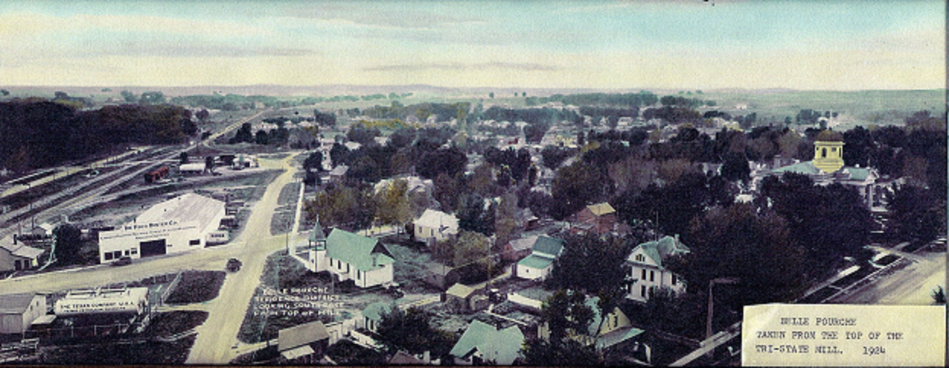 Historic Aerial View of Belle Fourche, 1924